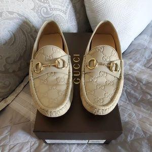 EUC Gucci Guccissima Leather Driver Loafers